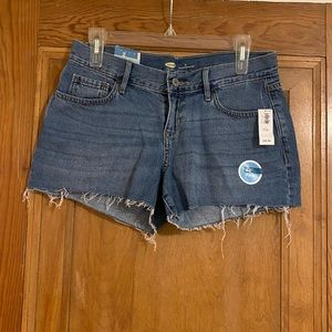 NWT Old Navy Low Rise Distressed Blue Denim Shorts